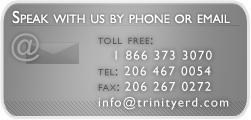 Contact Us by phone at (206) 467-0054 or at email info@trinityerd.com